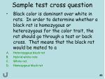 sample test cross question