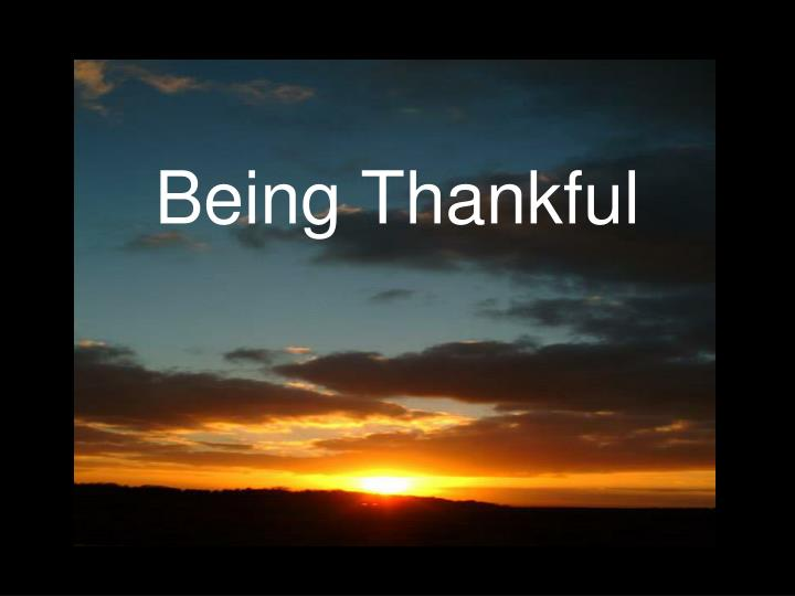 being thankful n.