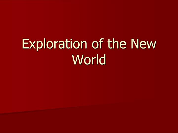 exploration of the new world n.