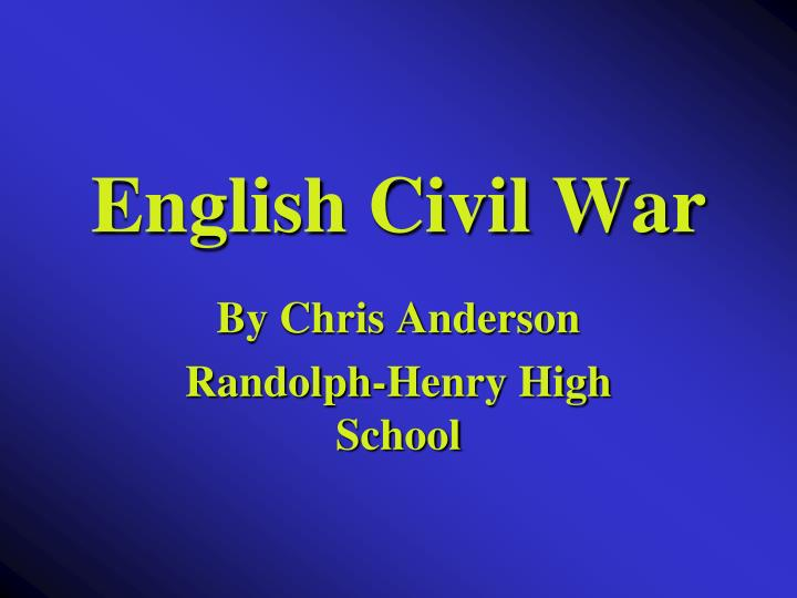 english civil war n.