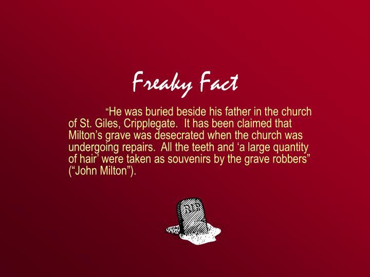 Freaky Fact