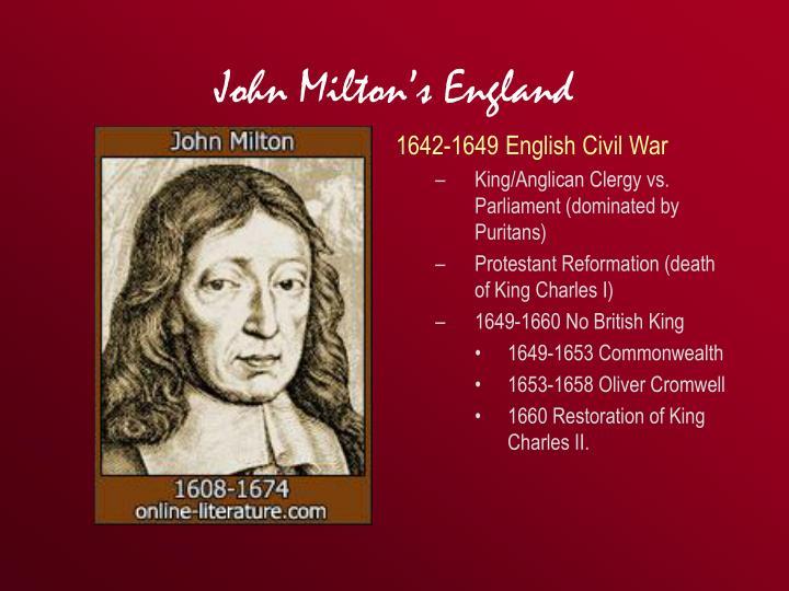 John Milton's England