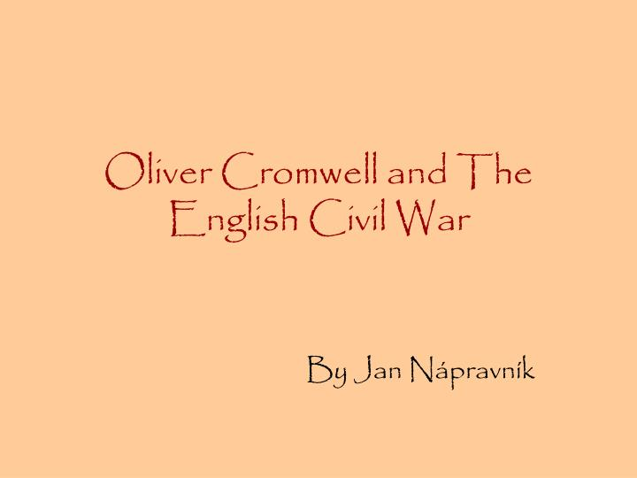oliver cromwell and the english civil war n.