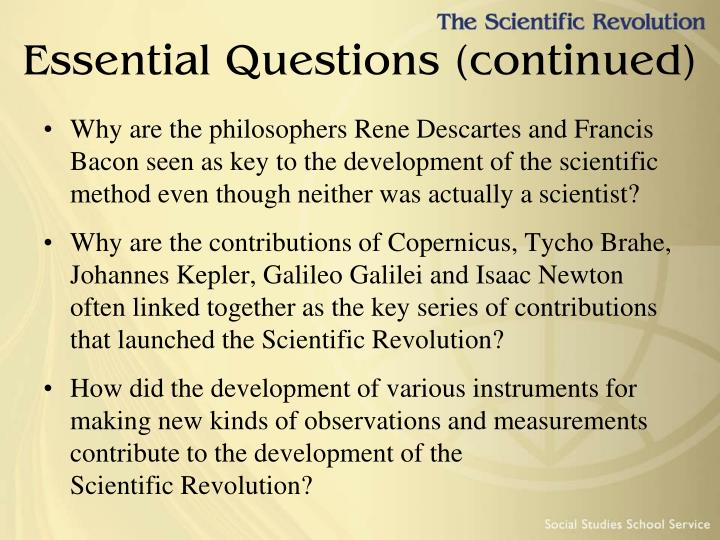 Essential questions continued