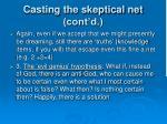 casting the skeptical net cont d2