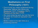 meditations on first philosophy 1641