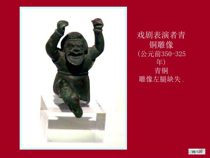 戏剧表演者青铜雕像
