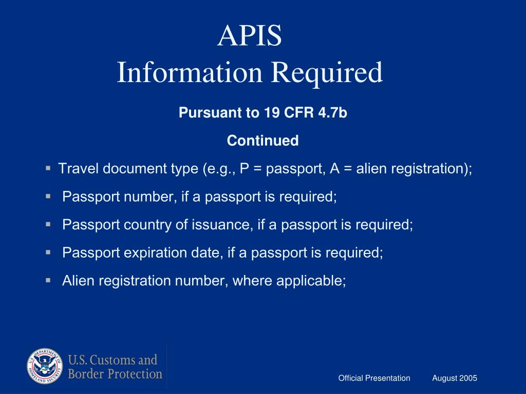 PPT - Customs & Border Protection PowerPoint Presentation