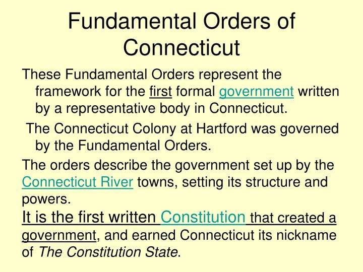 where was the fundamental orders of connecticut written