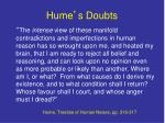 hume s doubts