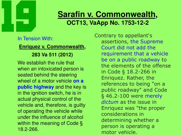 Sarafin v commonwealth oct13 vaapp no 1753 12 2