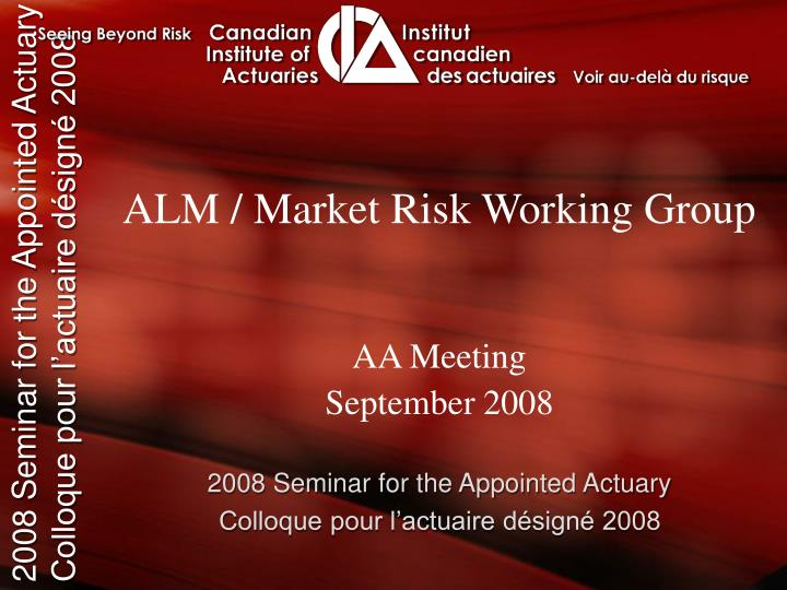 alm market risk working group n.