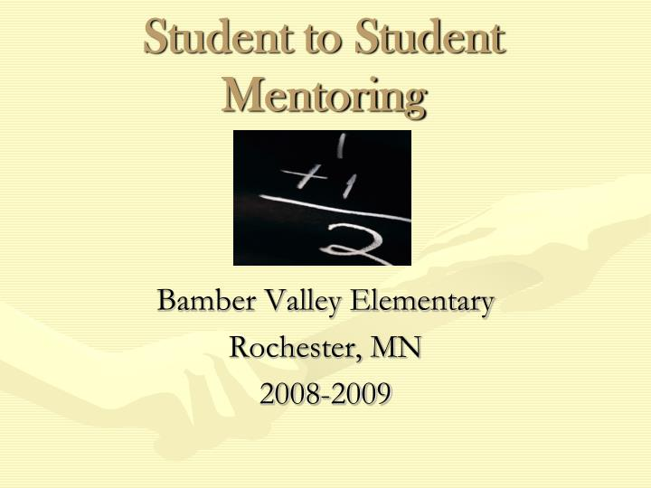student to student mentoring n.