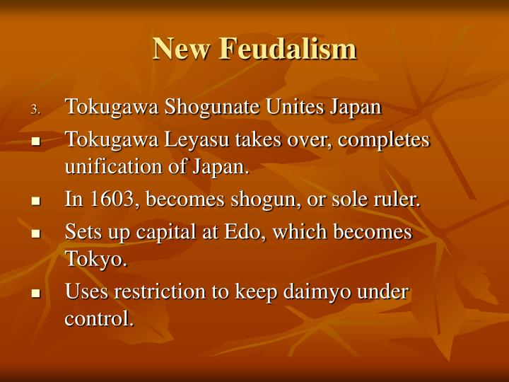 New Feudalism