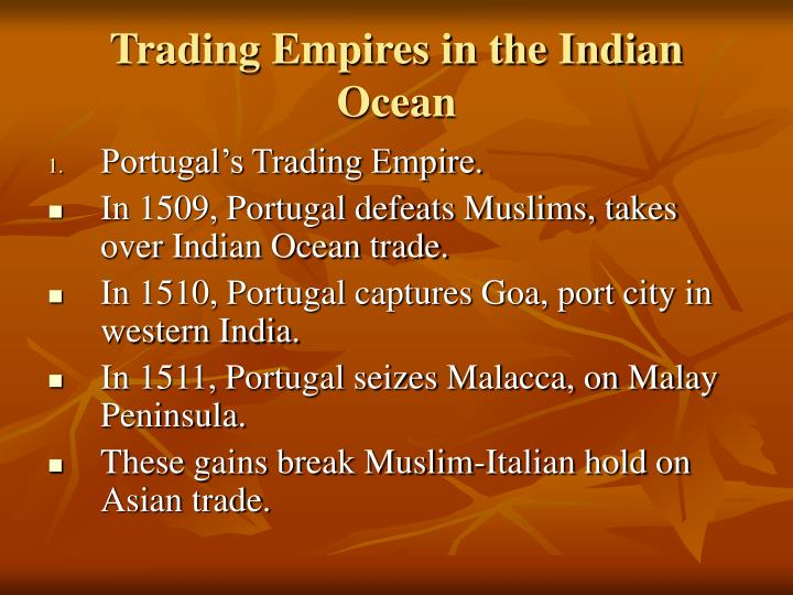 Trading Empires in the Indian Ocean