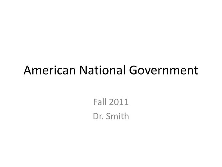 american national government n.