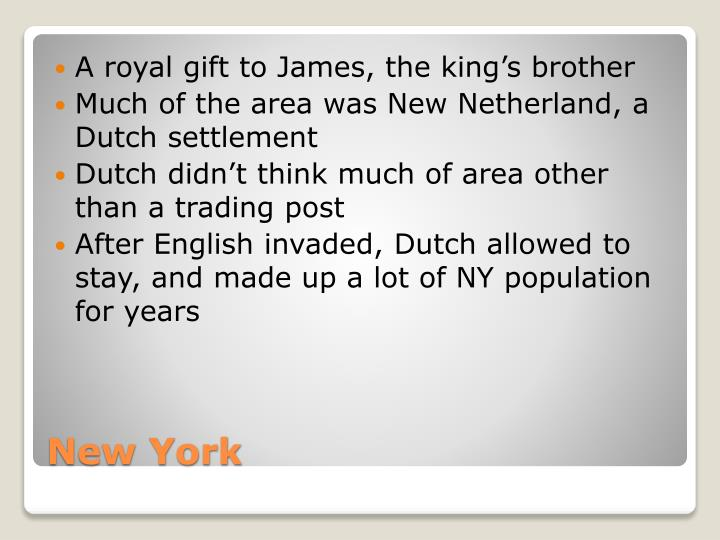 A royal gift to James, the king's brother