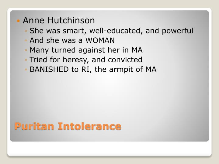 Puritan intolerance1