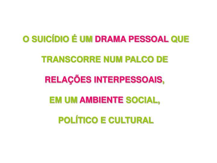 O SUICÍDIO É UM