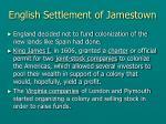english settlement of jamestown