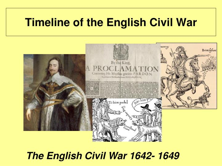 timeline of the english civil war n.