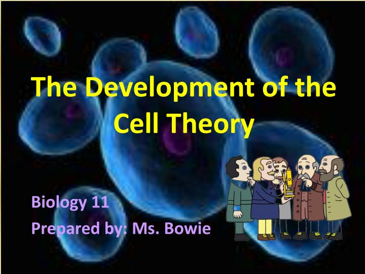 the development of the cell theory n.