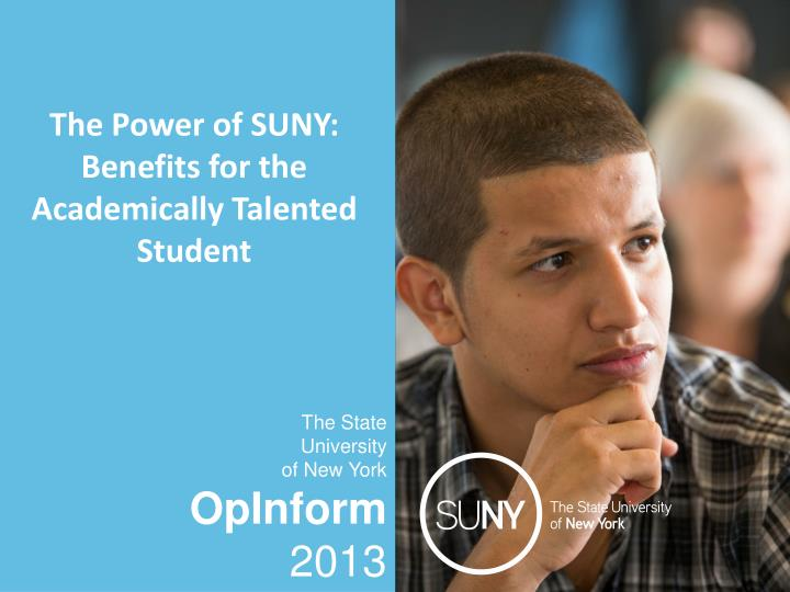 the power of suny benefits for the academically talented student n.