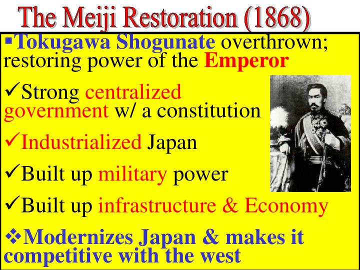 The Meiji Restoration (1868)