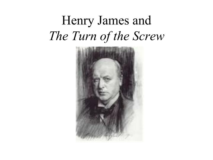 henry james and the turn of the screw n.