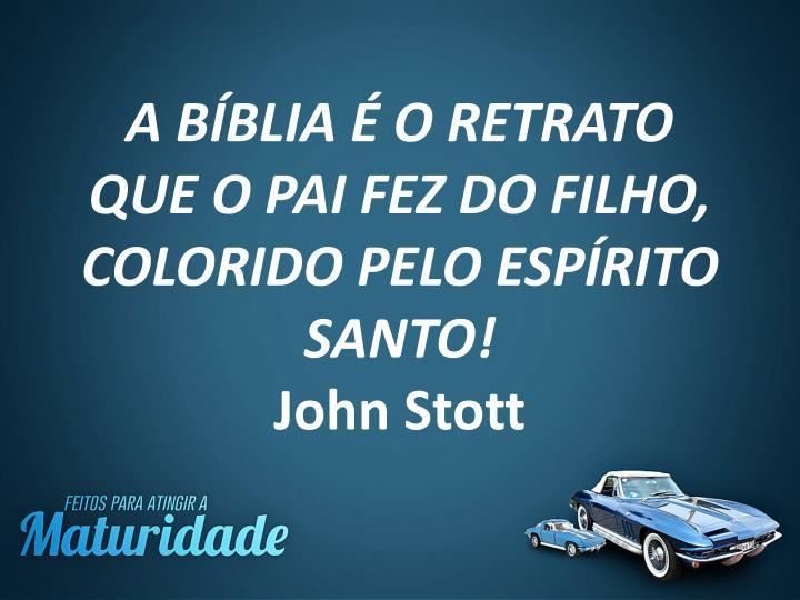 A BÍBLIA É O RETRATO QUE O PAI FEZ DO FILHO, COLORIDO PELO ESPÍRITO SANTO!