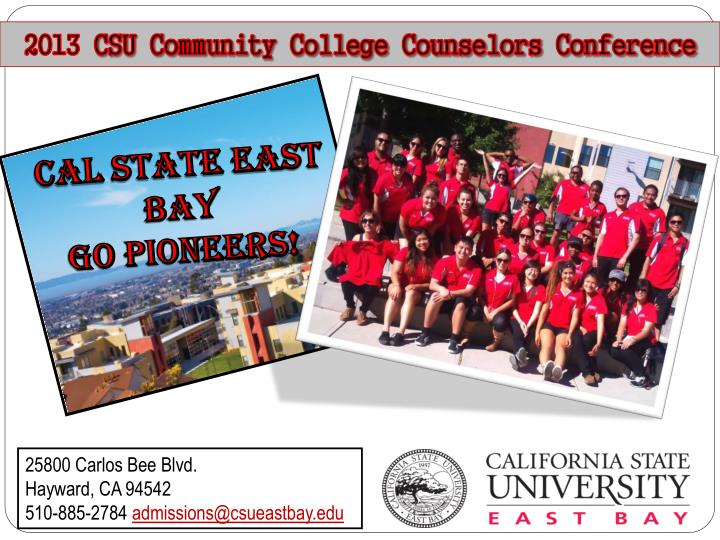 2013 csu community college counselors conference n.