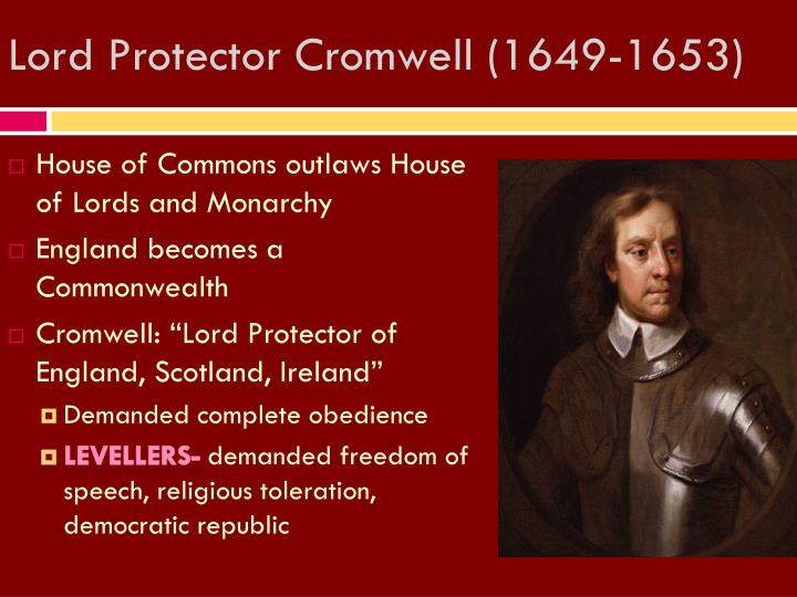 Lord Protector Cromwell (1649-1653)