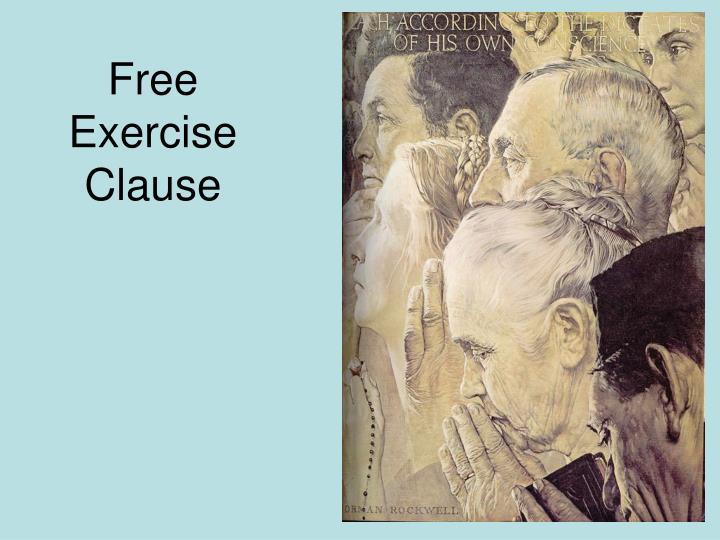 Free Exercise Clause