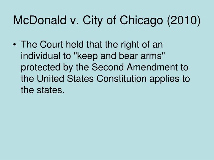 McDonald v. City of Chicago (2010)