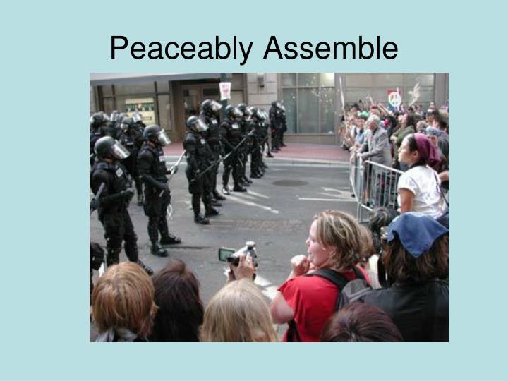 Peaceably Assemble