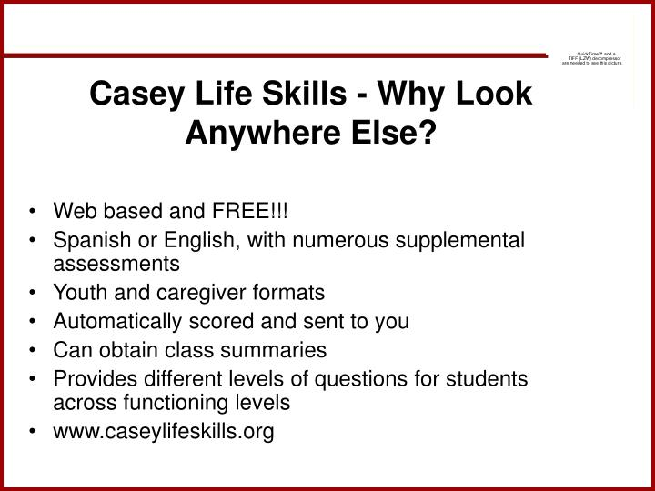 Casey Life Skills - Why Look