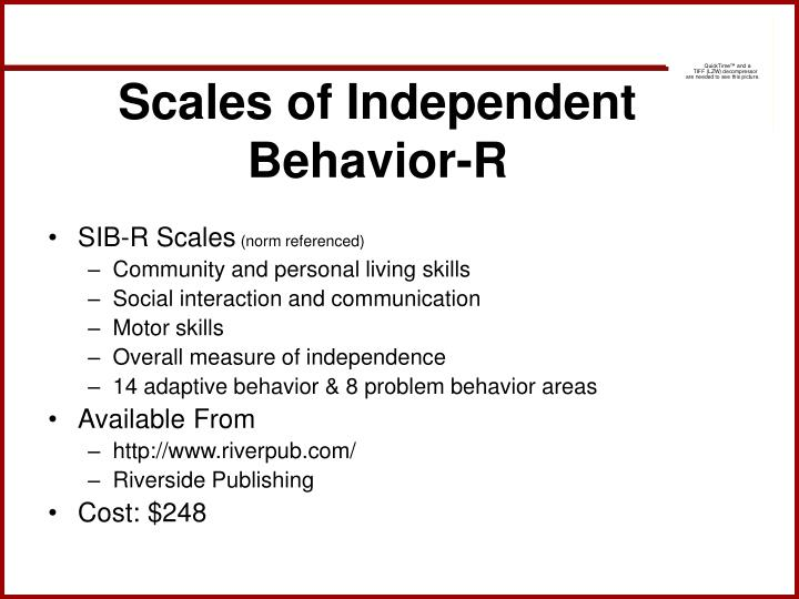 Scales of Independent Behavior-R