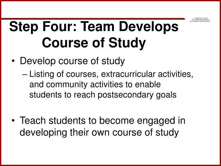 Step Four: Team Develops Course of Study