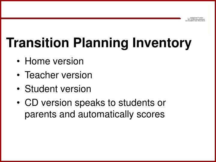 Transition Planning Inventory