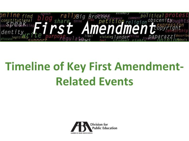 an analysis of first amendment Chapman university law professor ronald rotunda critically discusses attempts to amend the first amendment of the us legal analysis and commentary from justia.