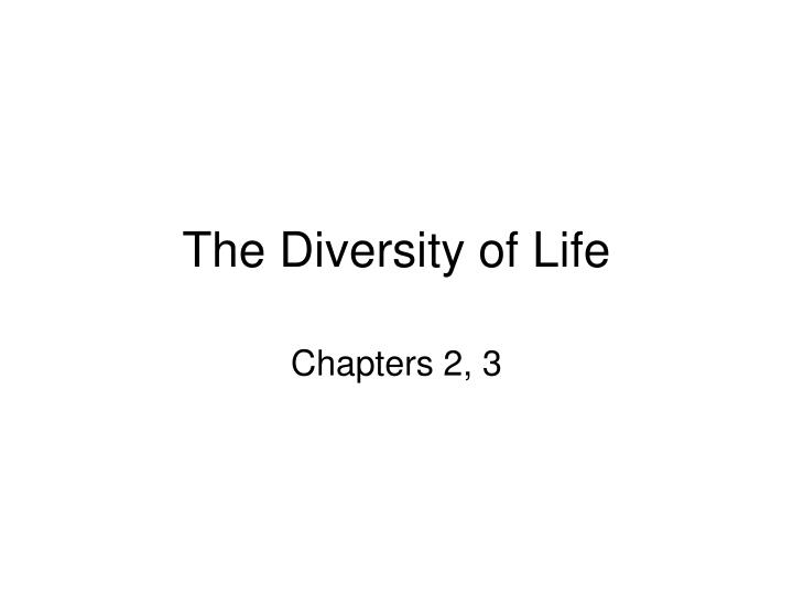 the diversity of life n.