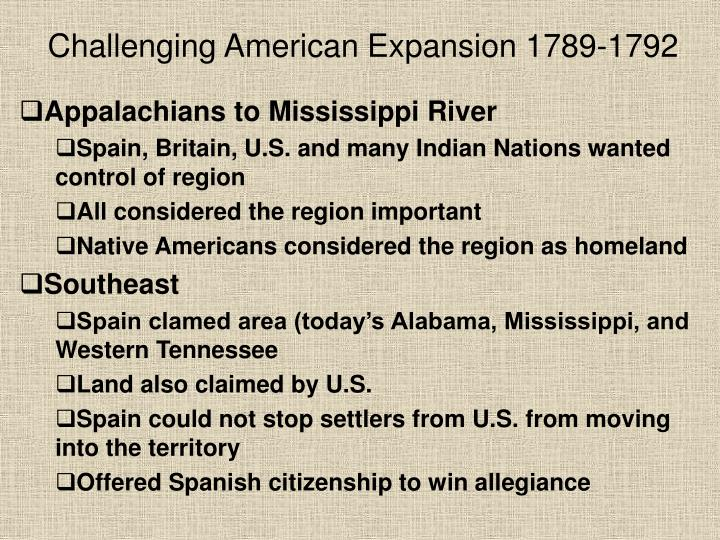 challenging american expansion 1789 1792 n.