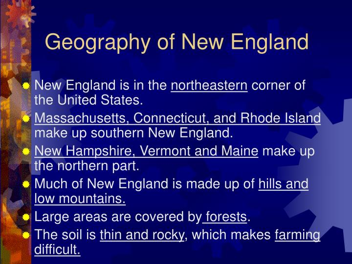 Geography of new england