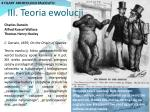iii teoria ewolucji