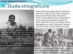 iv studia etnograficzne