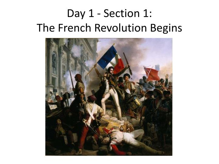 Day 1 section 1 the french revolution begins