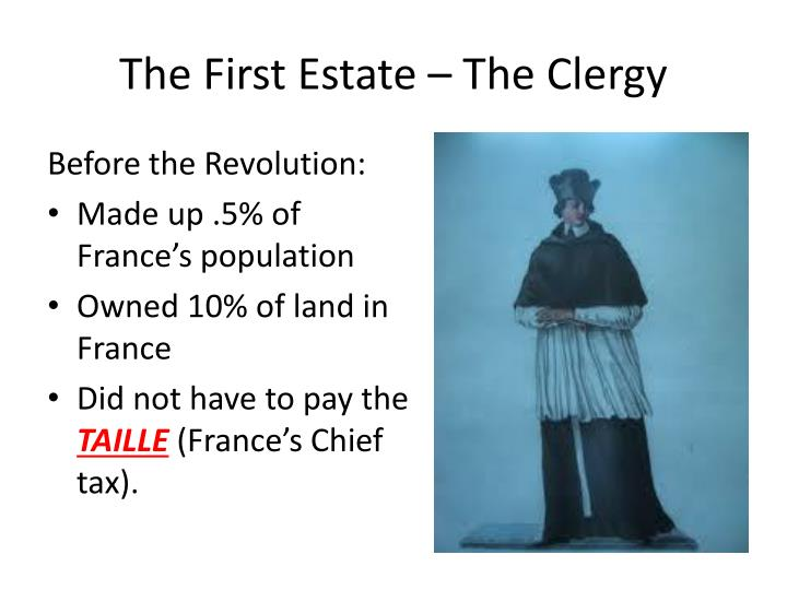 The First Estate – The Clergy
