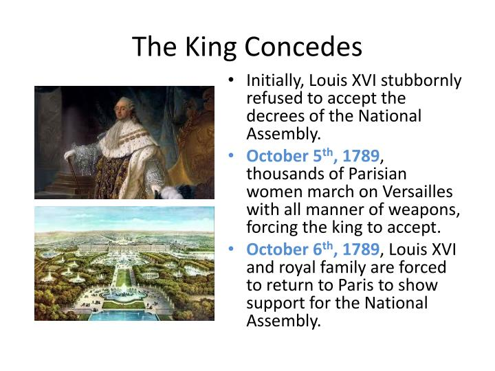 The King Concedes