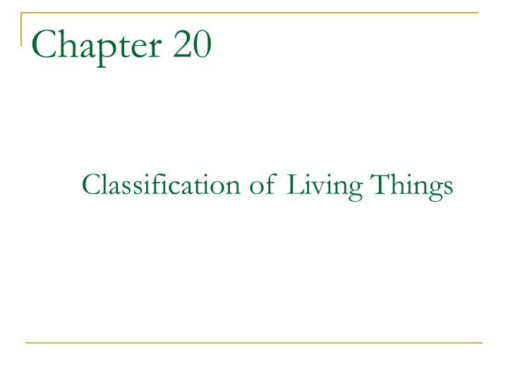 chapter 20 classification of living things n.