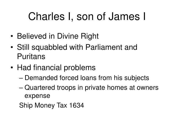 Charles I, son of James I